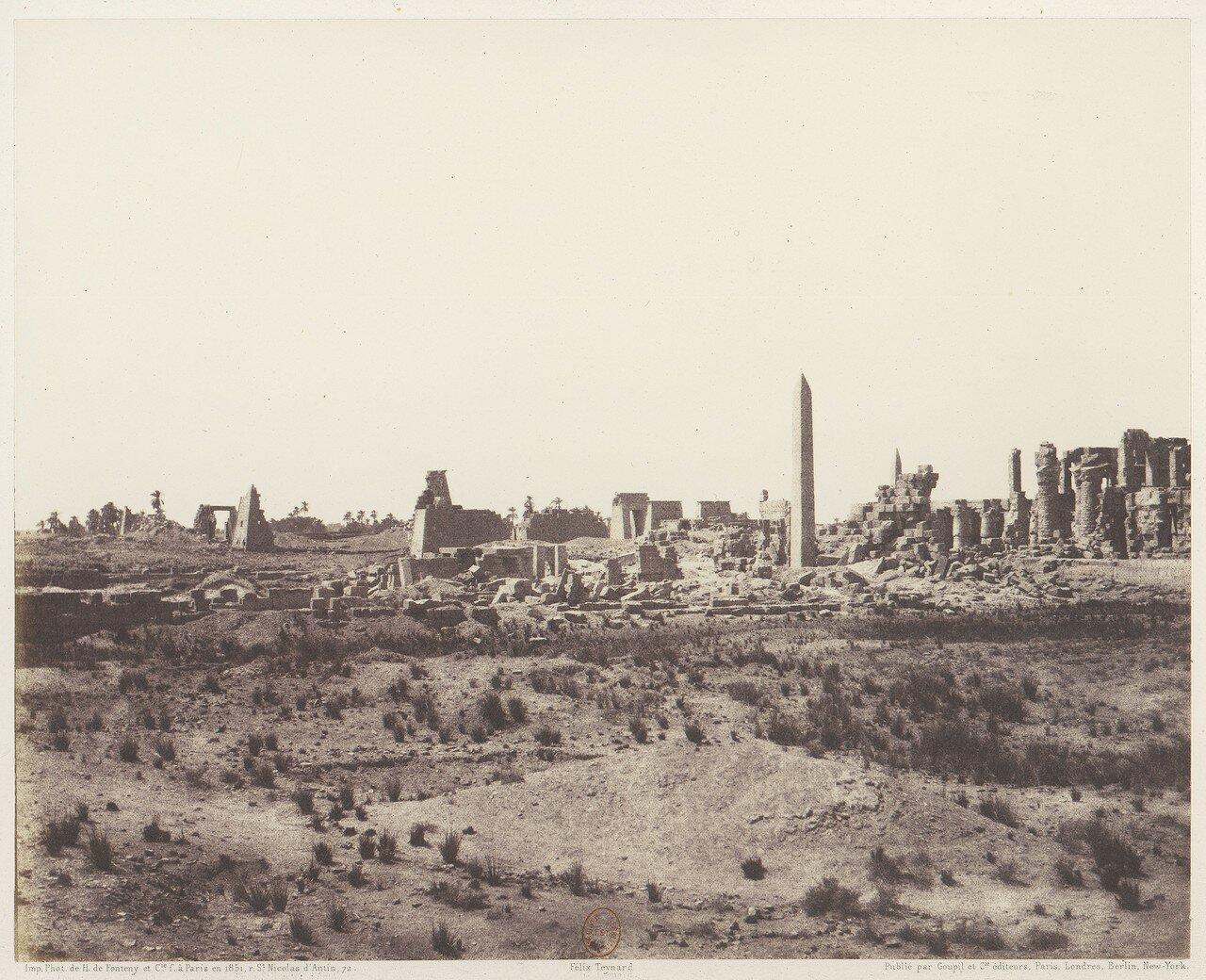 Карнак. Общий вид руин с северо-востока из точки «V»