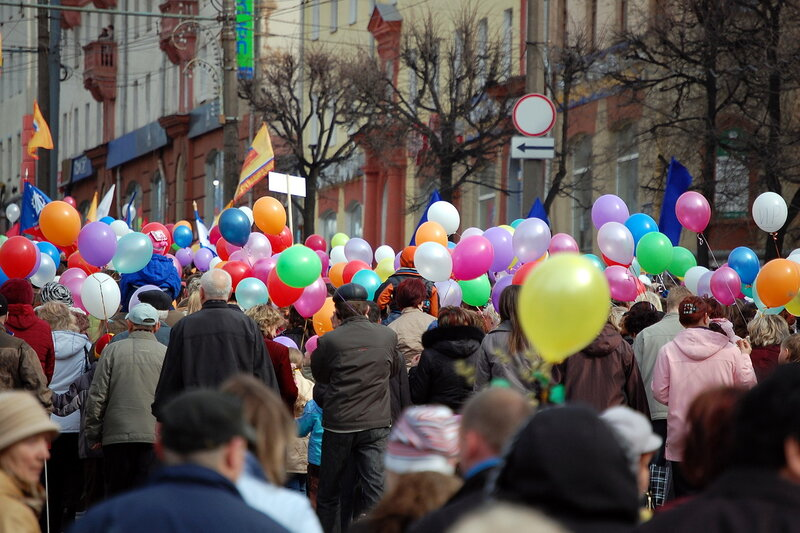 Первомайская демонстрация в Ижевске