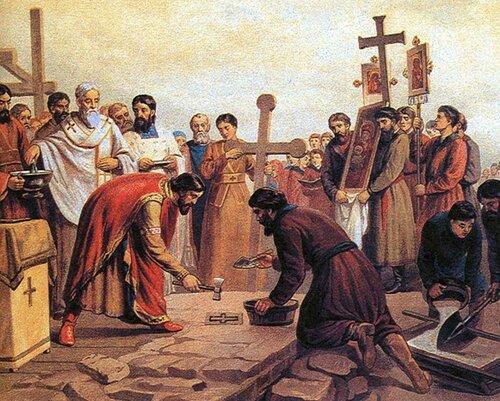 Верещагин В.П. «Закладка Десятинной церкви в Киеве в 989 г»