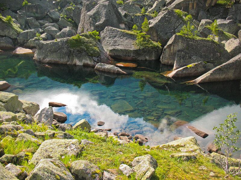 Озеро Гармония: двойное изображение