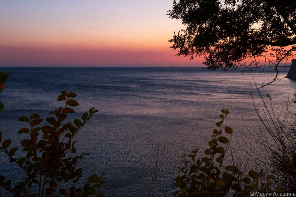 Море, закат, Черное море, Геленджик