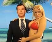 Дмитрия Медведева использовали для новогодней рекламы