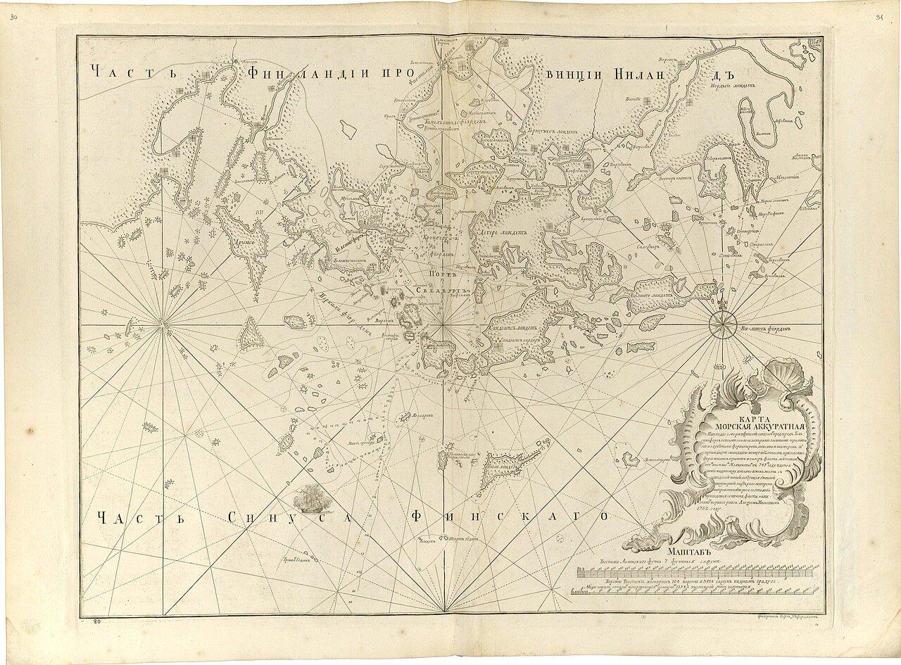 12.  Карта морская аккуратная