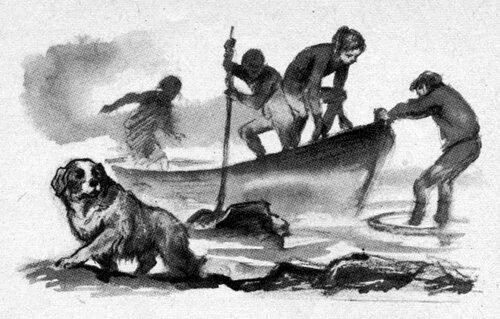 Но это был не причал, а просто берег. Несколько часов простояли они во фьорде всего в пяти взмахах весел от земли.- Рехнуться можно, - сказала Тедди.