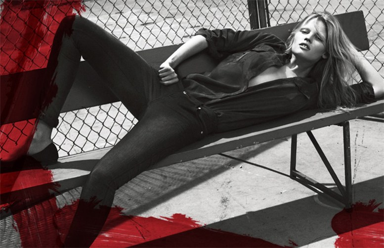 Лара Стоун / Lara Stone for Calvin Klein Jeans by Mert and Marcus