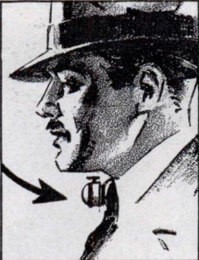 Будильник для водителей, срабатывает при склонении головы (1936)