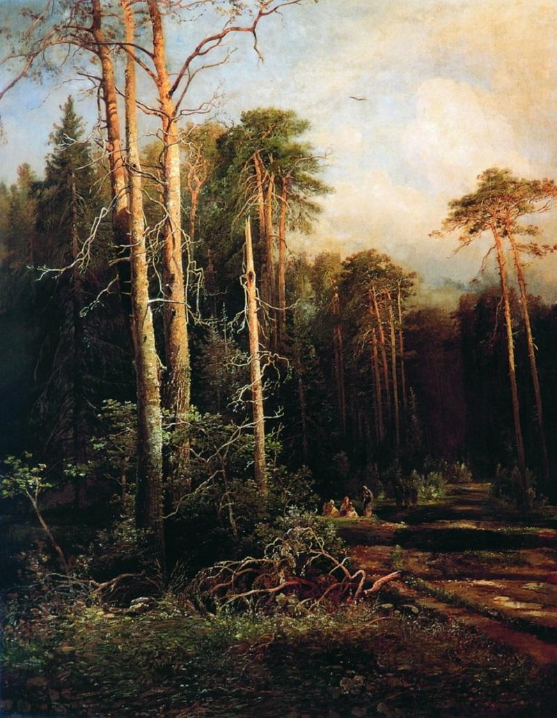 Дорога в лесу 1871 холст масло 138,5 х 109,5 см ГРМ.jpg