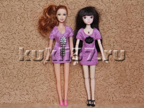 короткое платье для Барби
