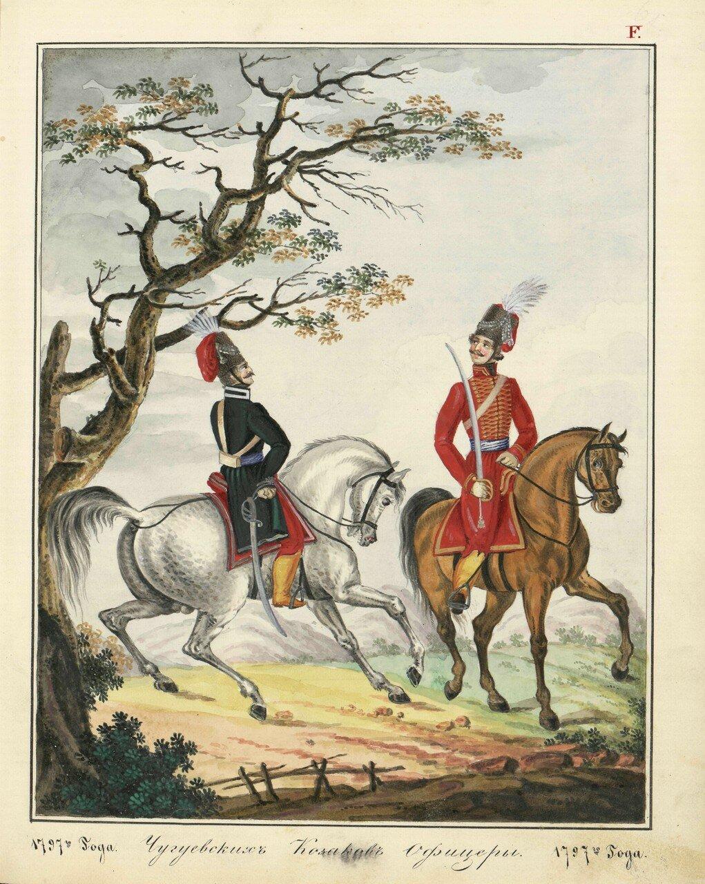 Чугуевские казачьи офицеры, 1787