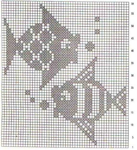 Филейное вязание (схемы. свой