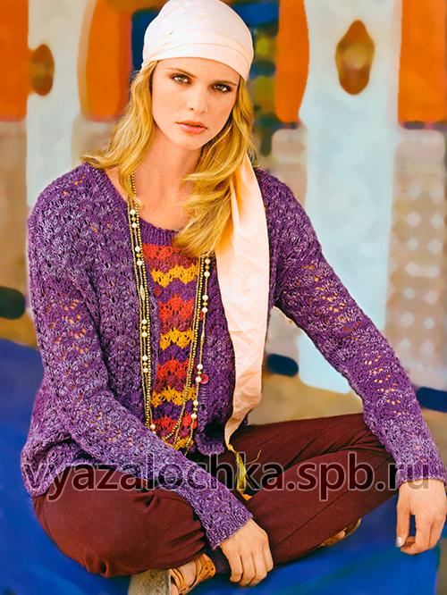 Пуловер и жакет спицами
