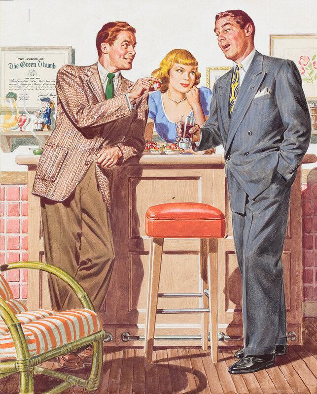Vintage Illustration.Иллюстрации в журналах