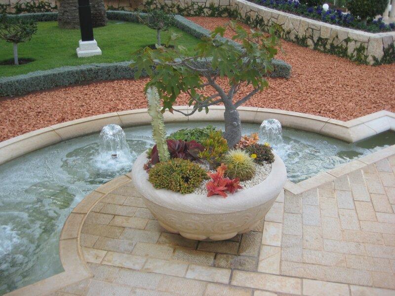 Любовь Лаврова, Путешествие в Израиль, Бахайские сады - клумба