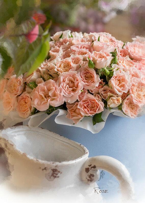Розовые розы...