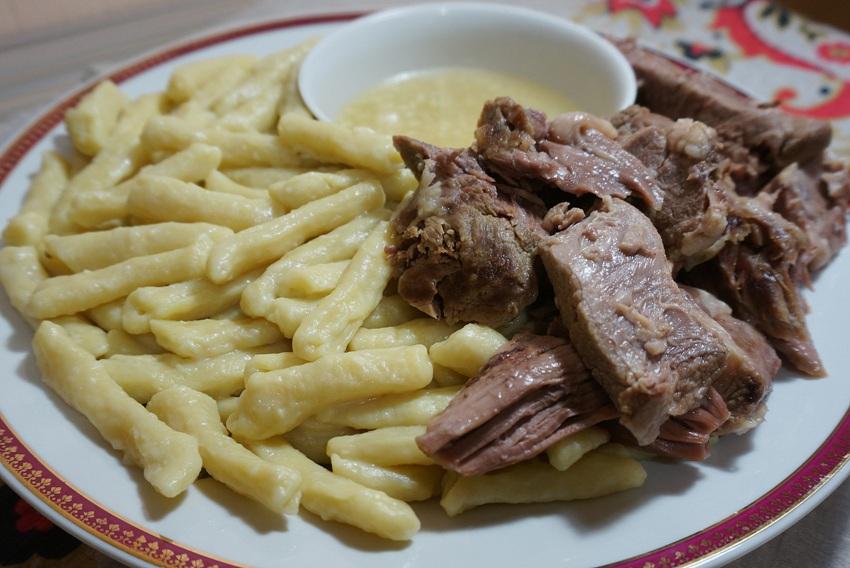 Жижиг галнаш чеченское блюдо на бульоне