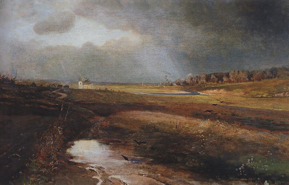 Пейзаж с церковью. 1885.jpg