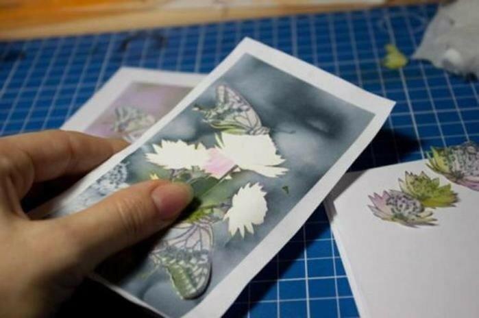 Как сделать рисунок бабочек на крышке телефона