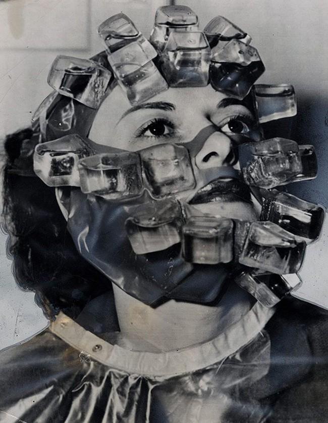 Процедура по уходу за кожей лица под названием «морозильник». 1966 год.