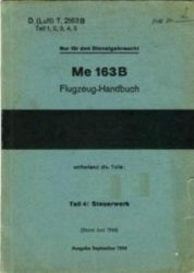 Книга Me 163 B Flugzeug–Handbuch.  Teli 4.  Steuerwerk