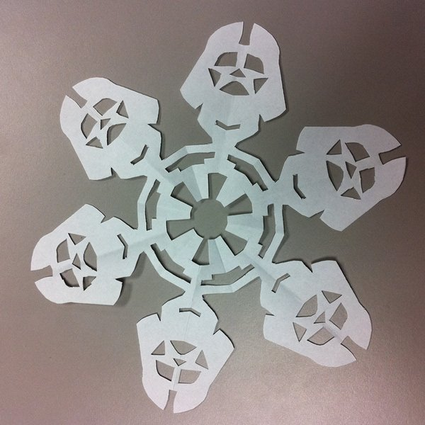 Make your own Origami Star Wars snowflakes.