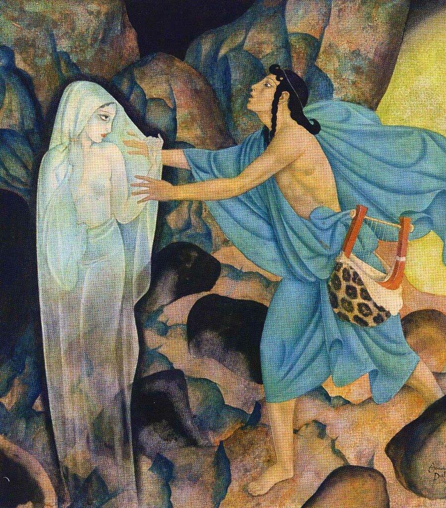 Edmund Dulac-Orpheus and Eurydice