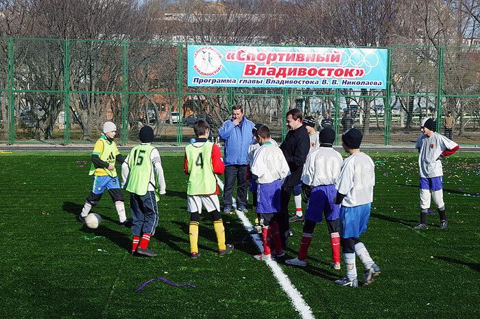 Новый стадион, построенный в рамках программы В. Николаева «Спортивный Владивосток»