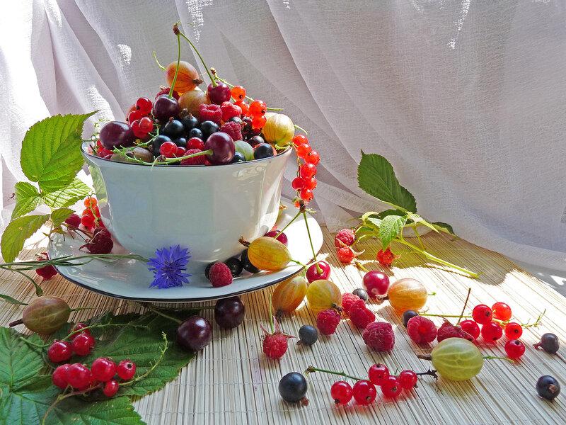 Открытки с добрым утром лето ягоды, открытки букет