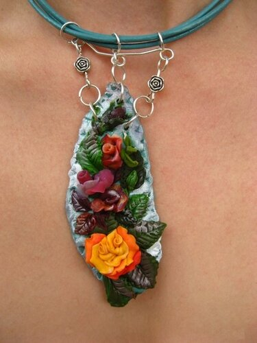 Jewelry from polymer clay