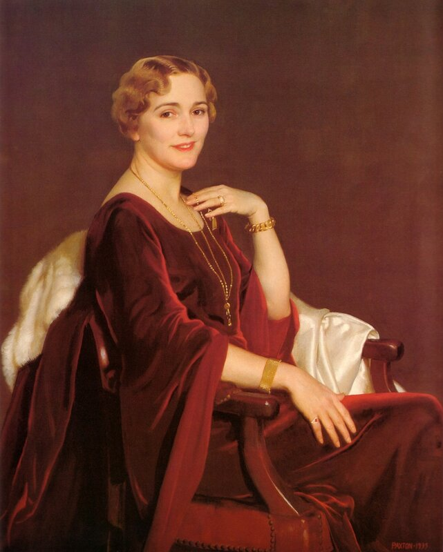 William Paxton: Portrait Of Mrs Charles Frederic Toppan-1935