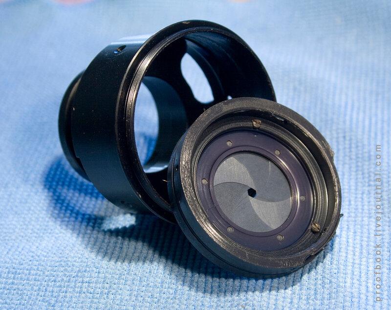 разобрать объектив Гелиос 77М-4