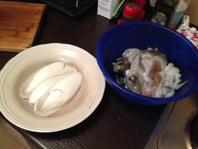 готовка и чистка каракатиц