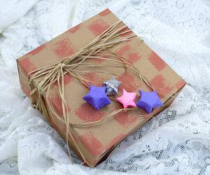Звёзды из бумаги для упаковки