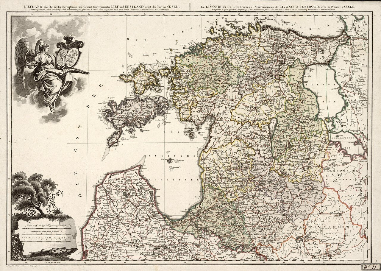 01. 1798. Общая карта Лифляндии и Эстляндии