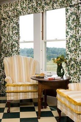 шторы растительным узором