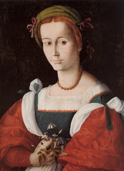 Bacchiacca: A Lady with a Nosegay, 1520's