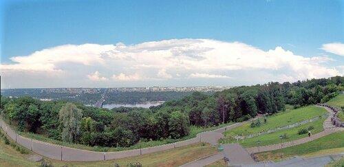 Киев. Парк Славы--панорама