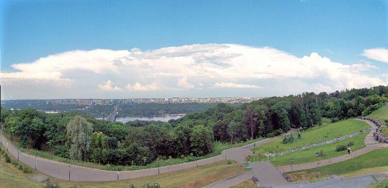Панорама с площадки обозрения парка Славы