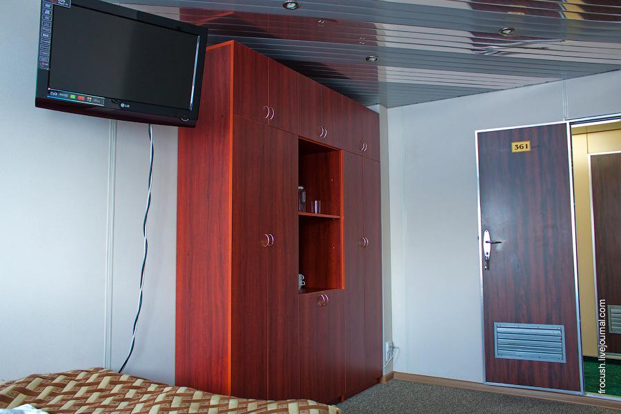 Каюта «полулюкс» №361 на средней палубе теплохода «Санкт-Петербург»