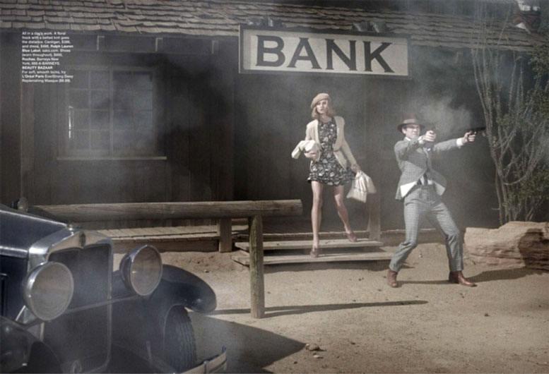 Анна Селезнева / Anna Selezneva and Wes Bentley by Peter Lindbergh