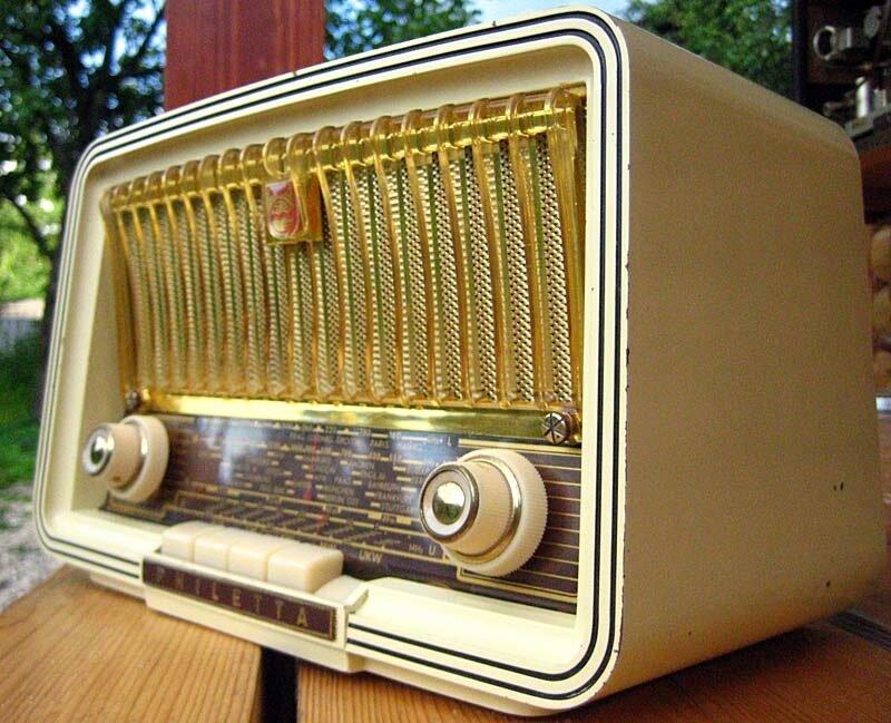 ламповый радио 1959 года philips