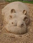 """Фрагмент композиции """"Африка"""" / фестиваль песчаных скульптур"""