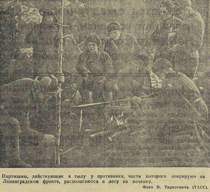 «Известия», 4 декабря 1941 года, партизанская война, партизаны ВОВ, красный партизан, советские партизаны, партизан 1941