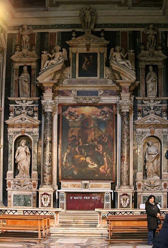 Naples. The Church of Gesu Nuovo (Chiesa del Gesu Nuovo). Interiors