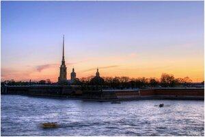 Закат над Невой.