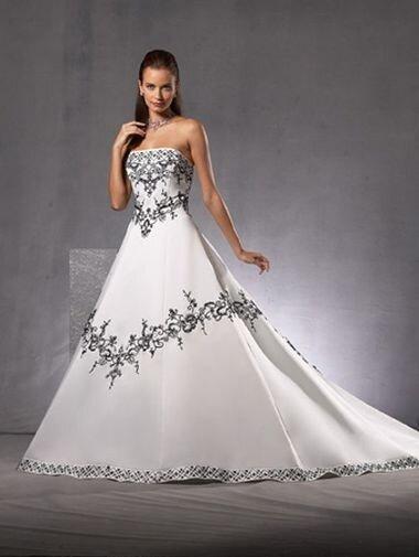 Черный свадебный наряд