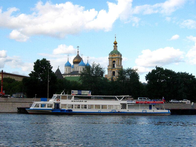 Вид на Новоспасский монастырь
