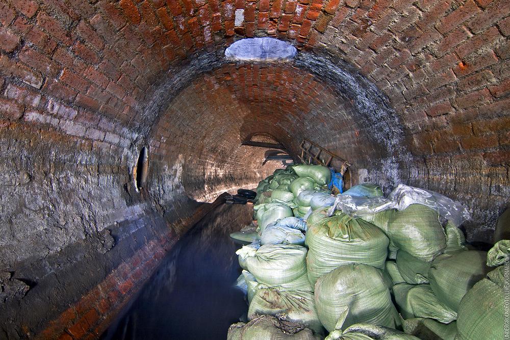 Очистка водосточного коллектора