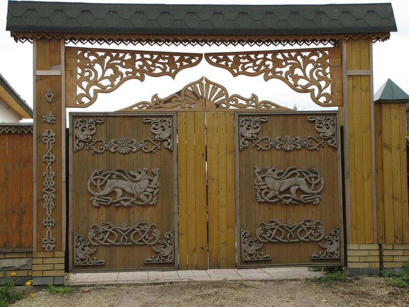 Ажурные ворота своим руками