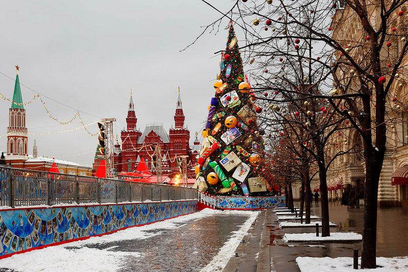 Новогодняя ёлка на Красной площади