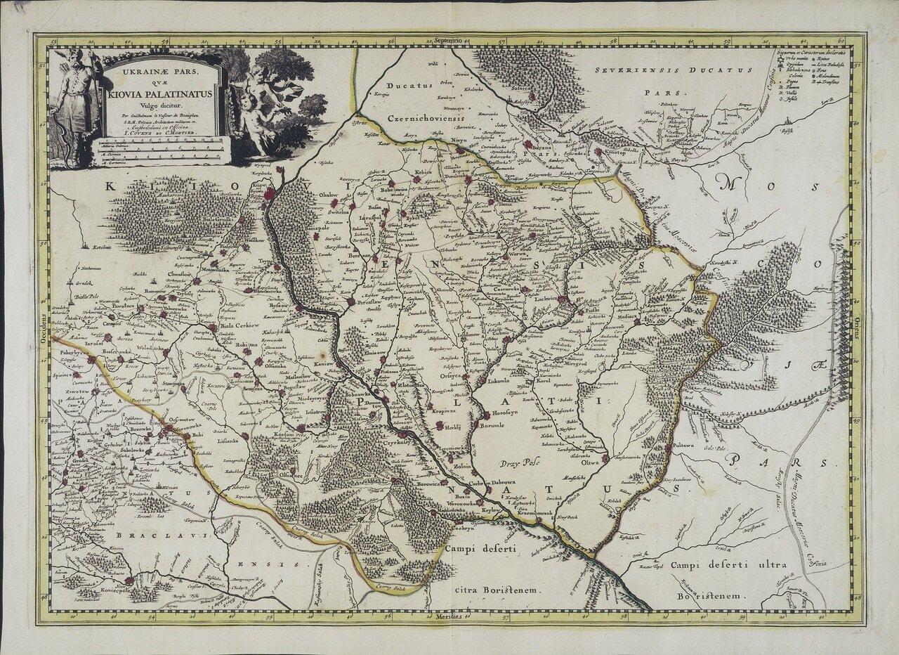 1721. Ukrainæ pars, qvæ Kiovia palatinatus vulgo dicitur